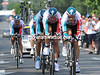 Sebastian Lang helped Omega Pharma-Lotto to a great 4th place, 22-seconds down...