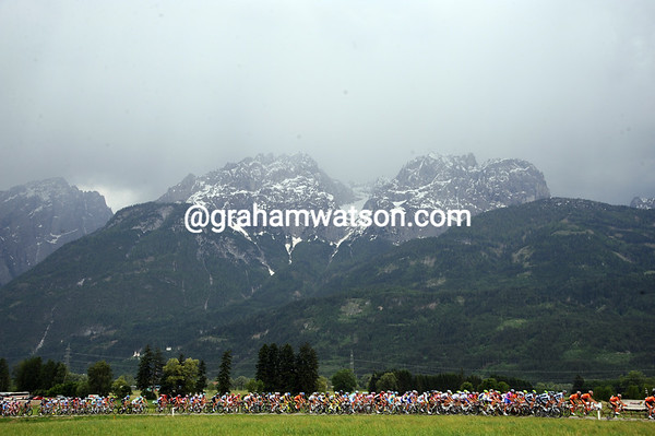 Austria is pretty stunning, but the threat of storms looms over the peloton...