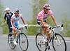 Contador has attacked and caught Rujano with four-kilometres of the pass left to climb...