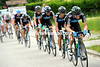 Team Sky are trying to get Thomas Lovkvist back to the peloton after a split occurred on an unclassified climb with 25-kilometres to go...