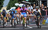 Alessandro Petacchi wins stage two but Mark Cavendish is angry at something...
