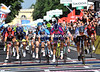 There's a bitter sprint building between Petacchi and Cavendish in the last 100-metres...
