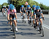 Team Garmin makes its entry at the head of the peloton, with David Millar showing his respects to Leopard-Trek and Wouter Weylandt...
