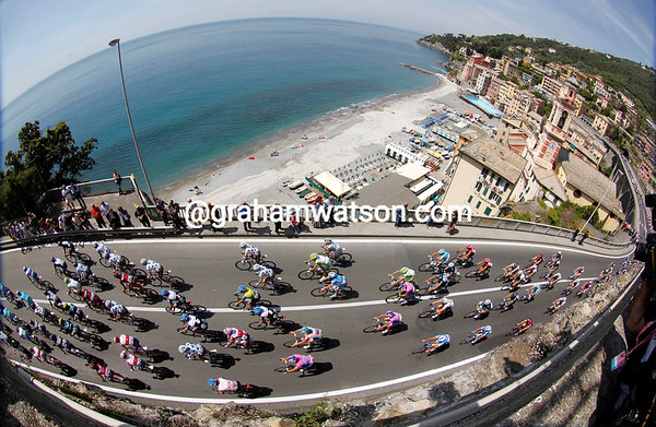 At any other time, this could have been a beautiful day in the Giro...