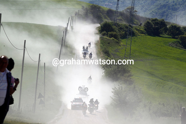 The hills of Tuscany are alive with...dust!