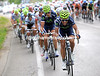 Movistar have picked up the chase pace with 20-kilometres to go...