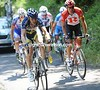 Five men have broken away after 15-kilometres - Veuchelen and Popovych are in charge...