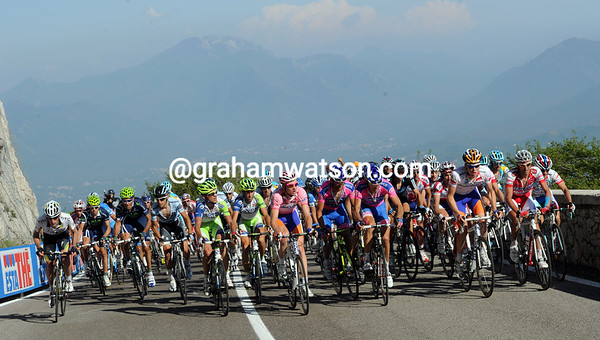 The scenery above Avellino doesn't match the lethargy in the main group...