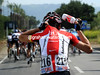 One more for the road - Phillip Deignan tops up with water bottles for his Radio Shack teamates...