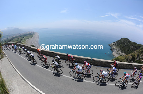 Who needs Highway One and California, when you've got the Calabrian coastline and the Giro d'Italia..?
