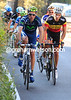Pablo Lastras and Philippe Gilbert have worked a new escape away, but their advantage is minimal for now...