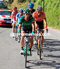 Arashiro leads the escape up on to the steep slopes of the Valcava...