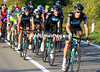 Team Sky is organising the big chase, led by Michael Rogers - they'll scoop up Gilbert's group and then go after Nibali...