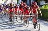 BMC has taken up the chasing on the climb - led by Alessandro Ballan...