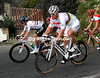 Thor Hushovd descends warily with Thomas - the World Champion is not liking this descent at all...