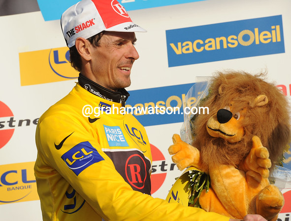 Andreas Kloden is the new race-leader, so many years after winning the race..!