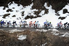 The peloton still shows little interest in chasing hard - maybe because it's cold up here..!