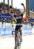Johan Van Summeren celebrates the greatest day of his life as he wins the 2011 Paris-Roubaix..!