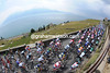La Belle Suisse - the peloton climbs above Lac Leman with little time to enjoy the wine and water...