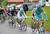 Roman Kreuziger chases Martin down - and manages to dislodge Brutt from the leading group...