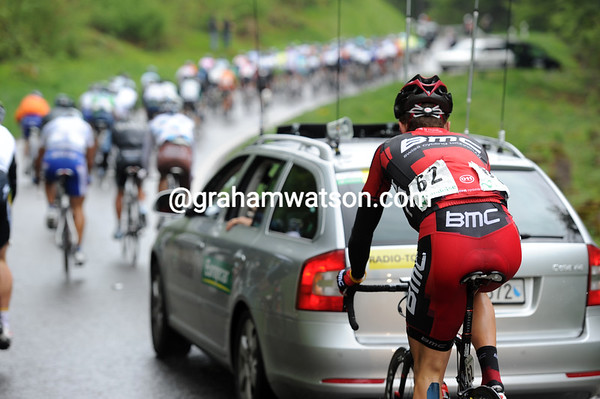 The rain is making it even harder - and Taylor Phinney still has yesterday's work in his legs...