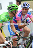 Gilbert and Petacchi are probably discussing how to beat Mark Cavendish in the sprint today...