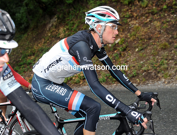 Frank Schleck has his thoughts on tomorrow's first mountain stage - he's in 4th overall and possibly Leopard-Trek's secret leader...