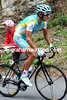 Roman Kreuziger is in no-mans land, chasing the escape but chased by Leopard-Trek on the Tourmalet...