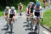 David Millar is leading a 20-man escape towards the Col de Portet d'Aspet...