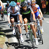 Xavier Zandio is leading the escape up the Col de Portet d'Aspet with a seven minute lead...