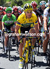 Thomas Voeckler is just ahead of Mark Cavendish and staying out of trouble in the winds...