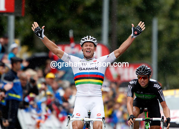 Thor Hushovd wins into Gap to take his third stage-win in the Tour..!