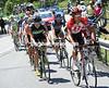 Dmitri Muravyev is leading the escape up the Col de Montgenevre with a seven minute lead...