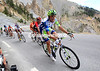 Ivan Basso is part of the group chasing Schleck as they descend through the Casse Desert...