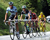 Alberto Contador has attacked at the start of the climb, taking Andy Schleck, Cadel Evans, and Thomas Voeckler with him..!