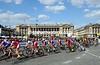 The Tour de France streams across the Place de la Concorde on its entry into Paris...