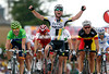 Mark Cavendish wins stage five ahead of Rojas and Gilbert - Hushovd remains race-leader for another day...
