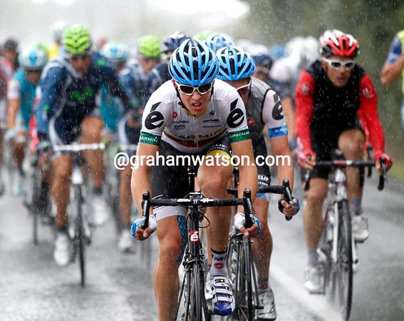 It's still thundering down one hour later as Navardauskas and Zabriskie take up the chasing...