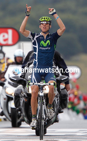 Alberto Rui Costa wins stage eight after attacking at the foot of the last climb...