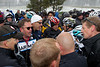 Riders such as Levi Leipheimer, Bernhard Eisel and Linus Gerdemann also joined in this last minute safety conversation with race organizers and team directors.