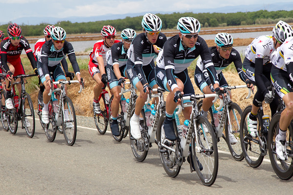 Andy Schleck was well protected all day by the team.