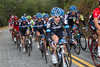 ...as Vandevelde and his teammates are just behind RadioShack - keeping their man Zabriskie close to the front.