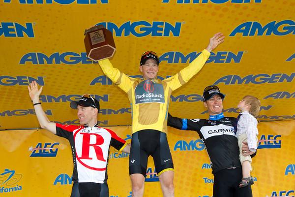 The overall GC podium, of Horner, Leipheimer and Danielson.