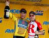 Chris Horner and Levl Leipheimer of RadioShack celebrate their one two finish in GC in the 2011 Amgen Tour of California.