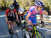 Scarponi looks better than Leipheimer as the pair forlornly chase Contador to the summit-finish...
