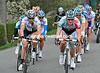 A big counter-attack is underway with Bernhard Eisel and Andre Greipel leading it...