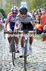 Gerait Thomas is crossing a new gap with Filippo Pozzato on his wheel...