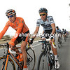 Igor Anton chats with rival and friend, Alberto Contador - the friendship might end temporarily soon...