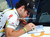 Mark Cavendish is doing his homework rather late today - he's making technical notes on the key points of the stage...