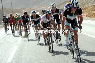 Fuglsang is putting the pressure on again - the group has lost Vinokourov and Cancellara...